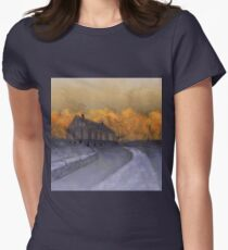 At Just Dawn Womens Fitted T-Shirt