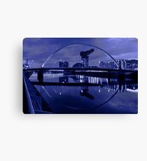 Clyde Arc or Squinty Bridge Glasgow, Scotland Canvas Print