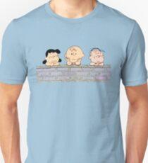 The Peanuts - Charlie Brown Brick Wall T-Shirt