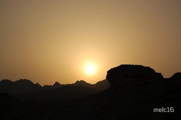 Mountains over Dubai by melc16