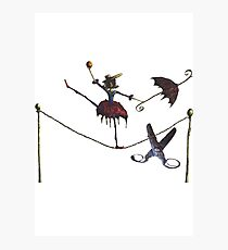 Tightrope Dangers Photographic Print