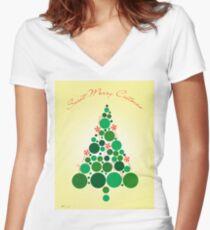 christmas Women's Fitted V-Neck T-Shirt