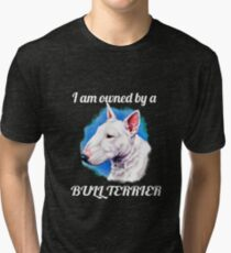 I am owned by a Bull Terrier  Tri-blend T-Shirt