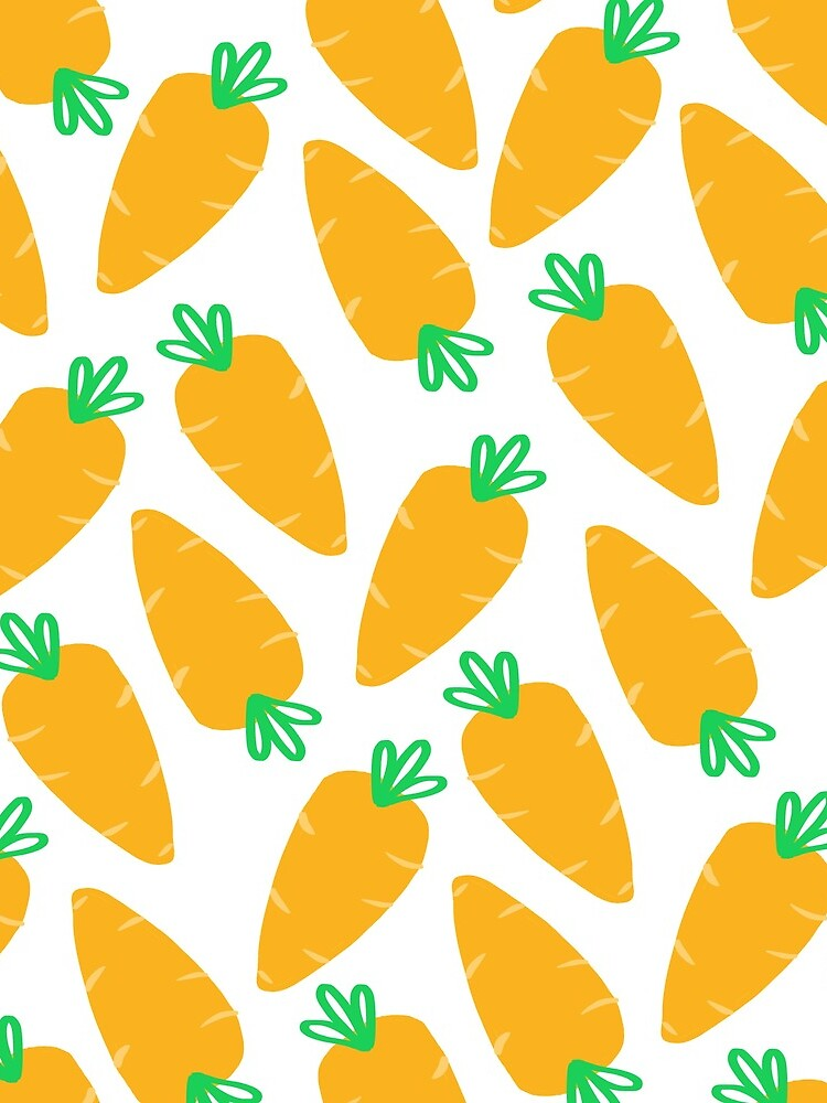 Karotten Karotten Muster | Transparent von LordMcLobster