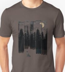 A Fox in the Wild Night Unisex T-Shirt