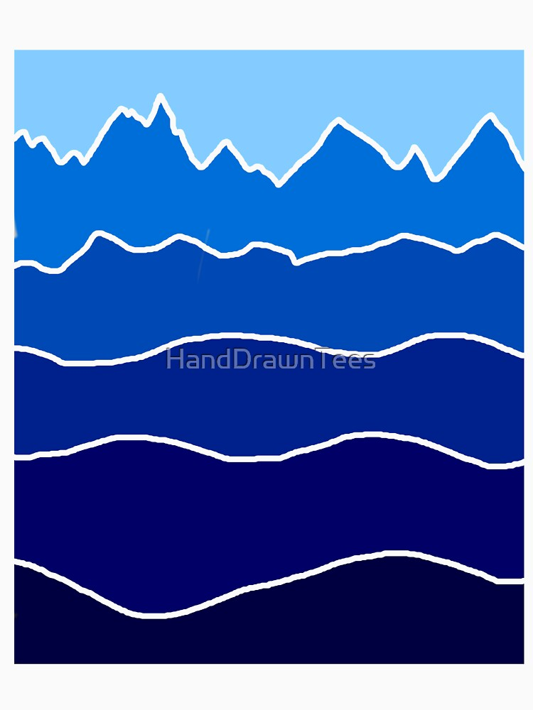 Landscape Staggered Blue by HandDrawnTees