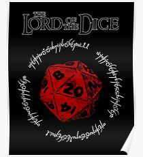 The Lord of the Dice (Red) Poster