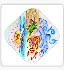 The Four Directions and Four Elements Sticker