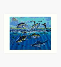 Yellowfin Run Art Print