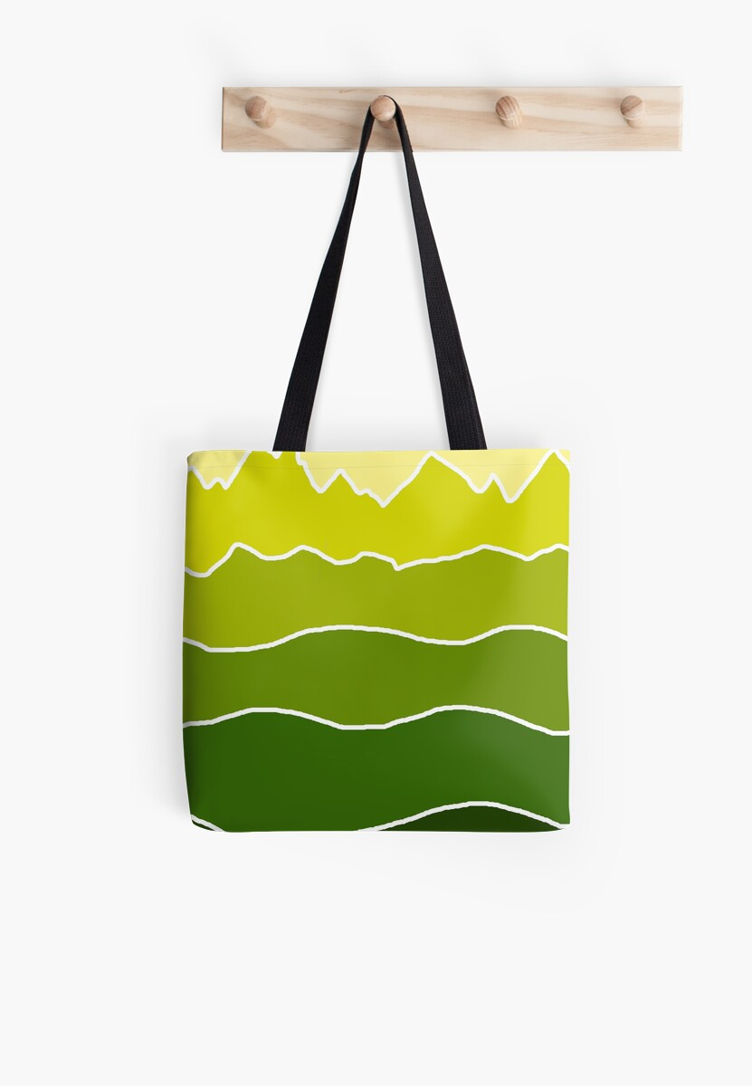 Landscape Staggered Green by HandDrawnTees