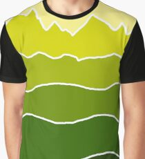 Landscape Staggered Green Graphic T-Shirt
