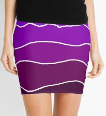 Landscape Staggered Purple Mini Skirt