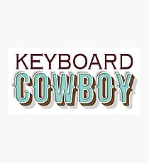 keyboard cowboy Photographic Print