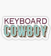 keyboard cowboy Sticker