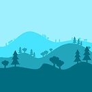 Landscape Blended Blue by HandDrawnTees