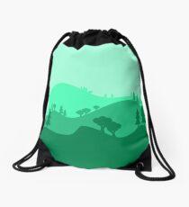 Landscape Blended Green Drawstring Bag