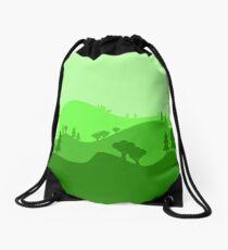Landscape Blended Green 2 Drawstring Bag