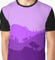 Landscape Blended Purple Graphic T-Shirt