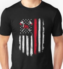 Firefighter Gift - Distressed American Flag Firefighter Unisex T-Shirt