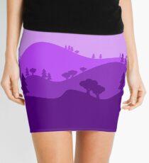 Landscape Blended Purple Mini Skirt