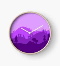Landscape Blended Purple Clock