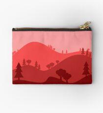 Landscape Blended Red Studio Pouch