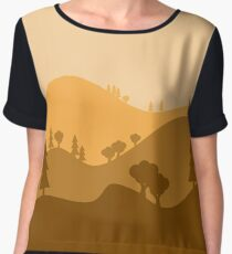 Landscape Blended Yellow Chiffon Top