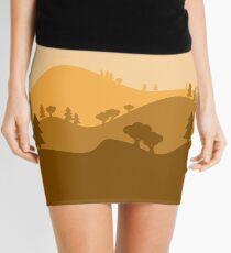 Landscape Blended Yellow Mini Skirt