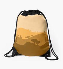 Landscape Blended Yellow Drawstring Bag