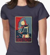 destroy Womens Fitted T-Shirt