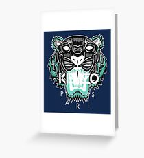 kenzo paris - white Greeting Card