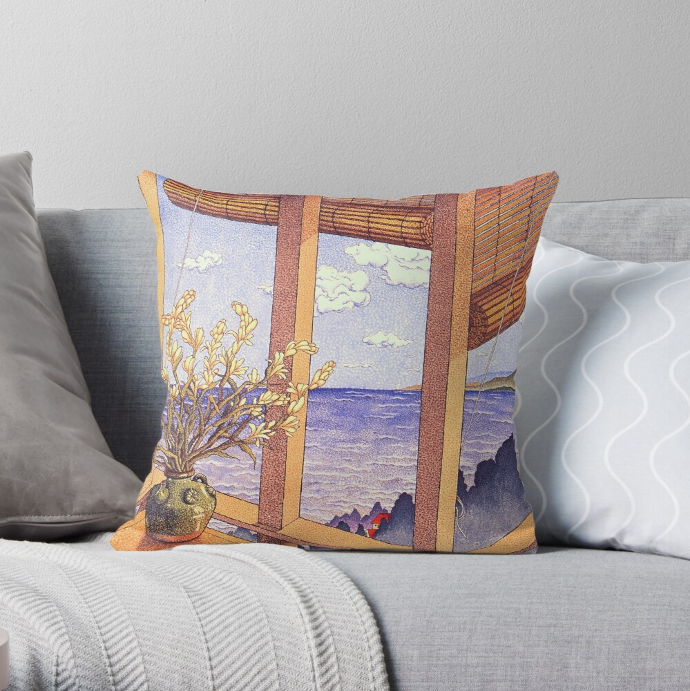 Gazing Throw Pillow