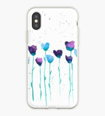 Peinture fleurs, fleurs aquarelle, illustration, aquarelle iPhone Case