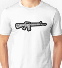 Riflemans Creed on M16 T-Shirt
