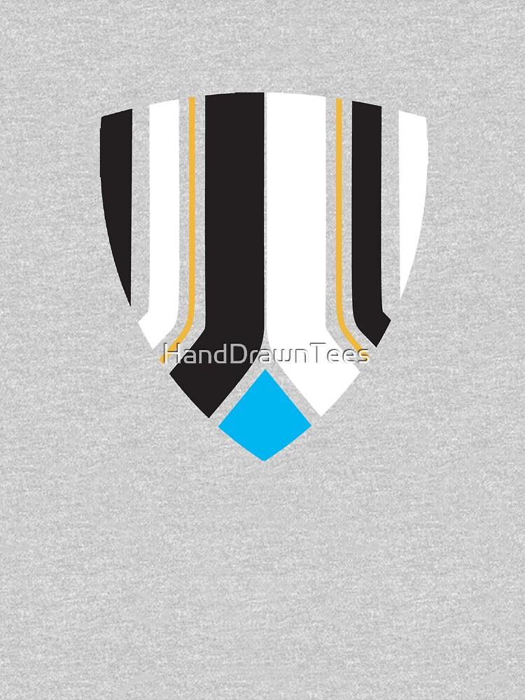 Newcastle Shield Club Colours by HandDrawnTees