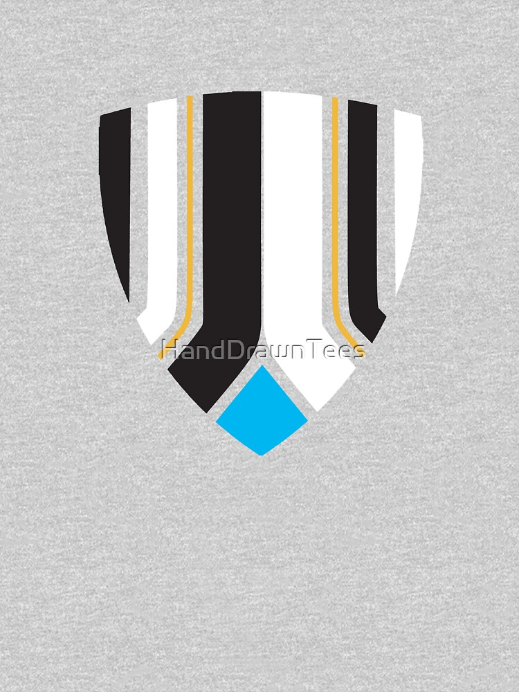 Newcastle Shield Club Colours by HandDrawnTees