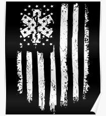 Distressed American Flag EMT Poster