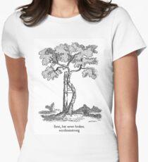 Bent, but never broken. Scoliosis awareness Women's Fitted T-Shirt