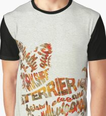 Yorkshire Terrier Typographic Watercolor Painting Graphic T-Shirt