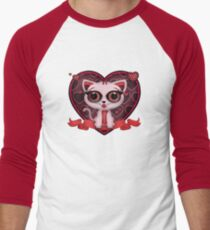 Valentine Kitten Men's Baseball ¾ T-Shirt