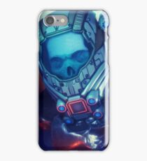 Sci-Fi Floating Skull in Space iPhone Case/Skin