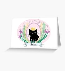 Queen Kitty Greeting Card