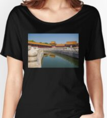 China. Beijing. The Forbidden City. Canal. Women's Relaxed Fit T-Shirt
