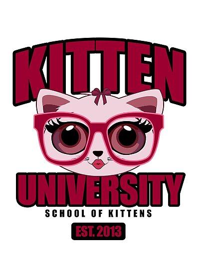Kitten University - Pink by Adam Santana