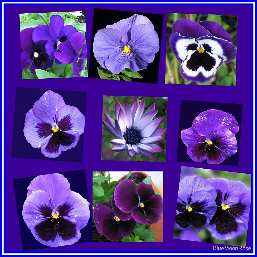 All Blues - Summer Flowers Collage von BlueMoonRose