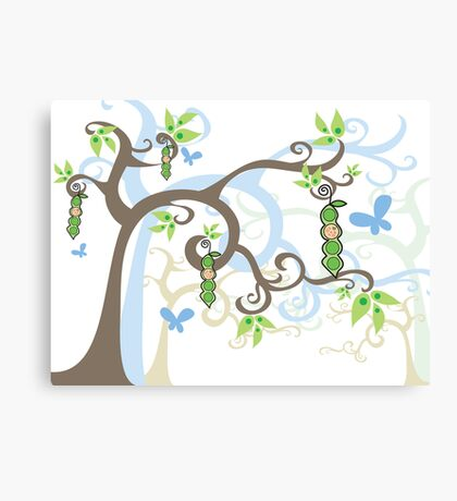 Magic Trees and Baby Boy Pea in a Pod Canvas Print