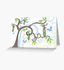 Magic Trees and Baby Boy Pea in a Pod Greeting Card