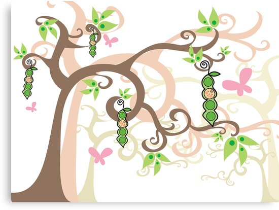 Magic Trees and Baby Girl Pea in a Pod by fatfatin