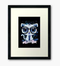 Nice Kitty - Black & Blue Framed Print