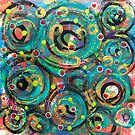 Exuberant Evolution - an Anahata Codes-infused intuitive painting by mellierosetest